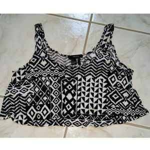 Forever 21 Tribal Crop Tank